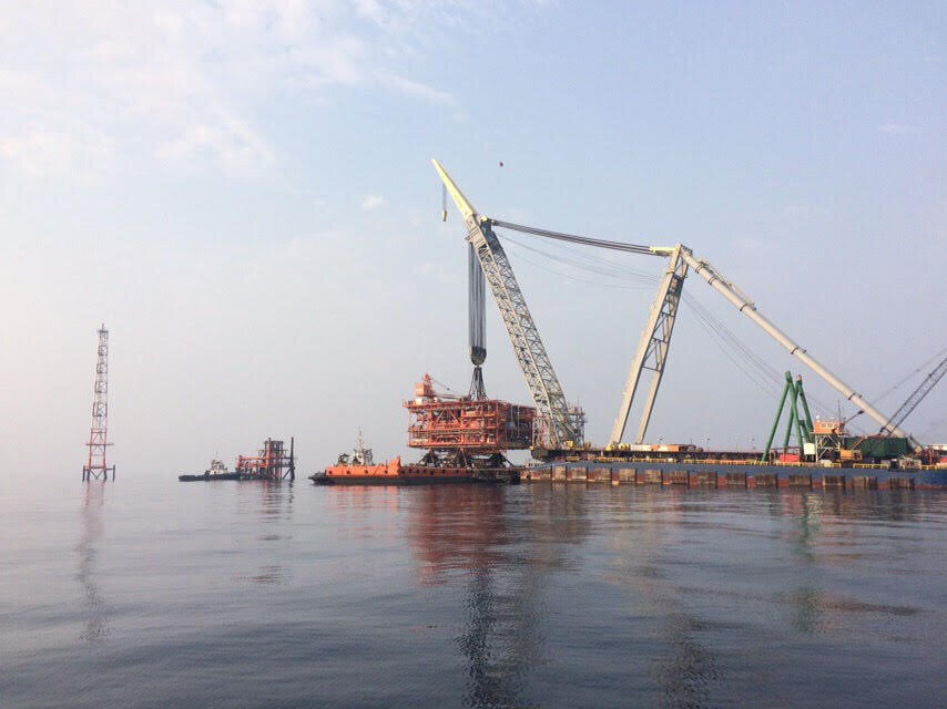 Third platform of South Pars phase 14 installed on offshore spot