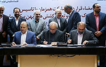 مراسم امضای قرارداد مشارکت همزمان بین ایدرو، شرکت کشتیرانی و شرکت ملی نفتکش