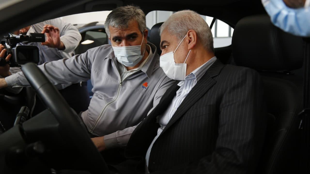 بازدید معاون وزیر صمت و رییس هیات عامل ایدرو از گروه خودروسازی سایپا
