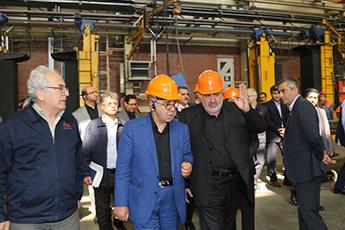 بازدید رئیس هئیت عامل ایدرو از کارخانه مپنا لکوموتیو