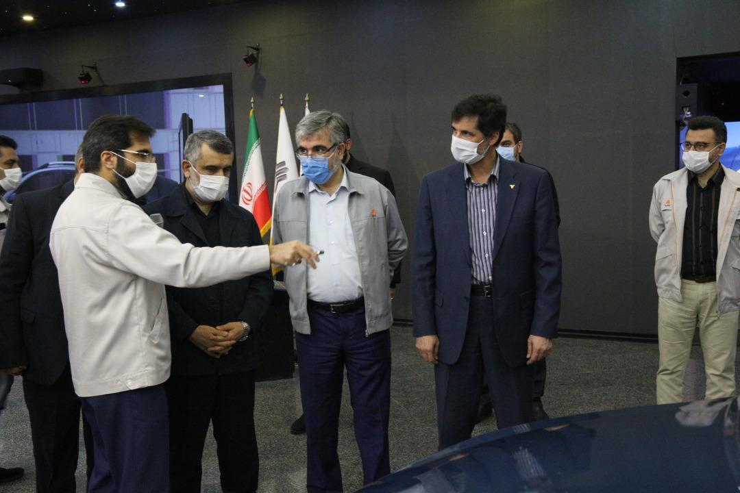 بازدید معاون وزیر و رئیس هیات عامل ایدرو از شرکت سایپا