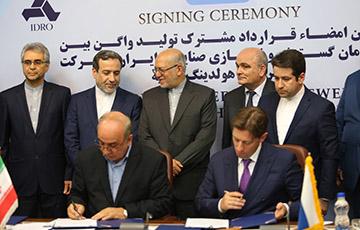 امضای قرارداد مشارکت تولید واگن بین ایدرو و شرکت ترنس مش هلدینگ روسیه