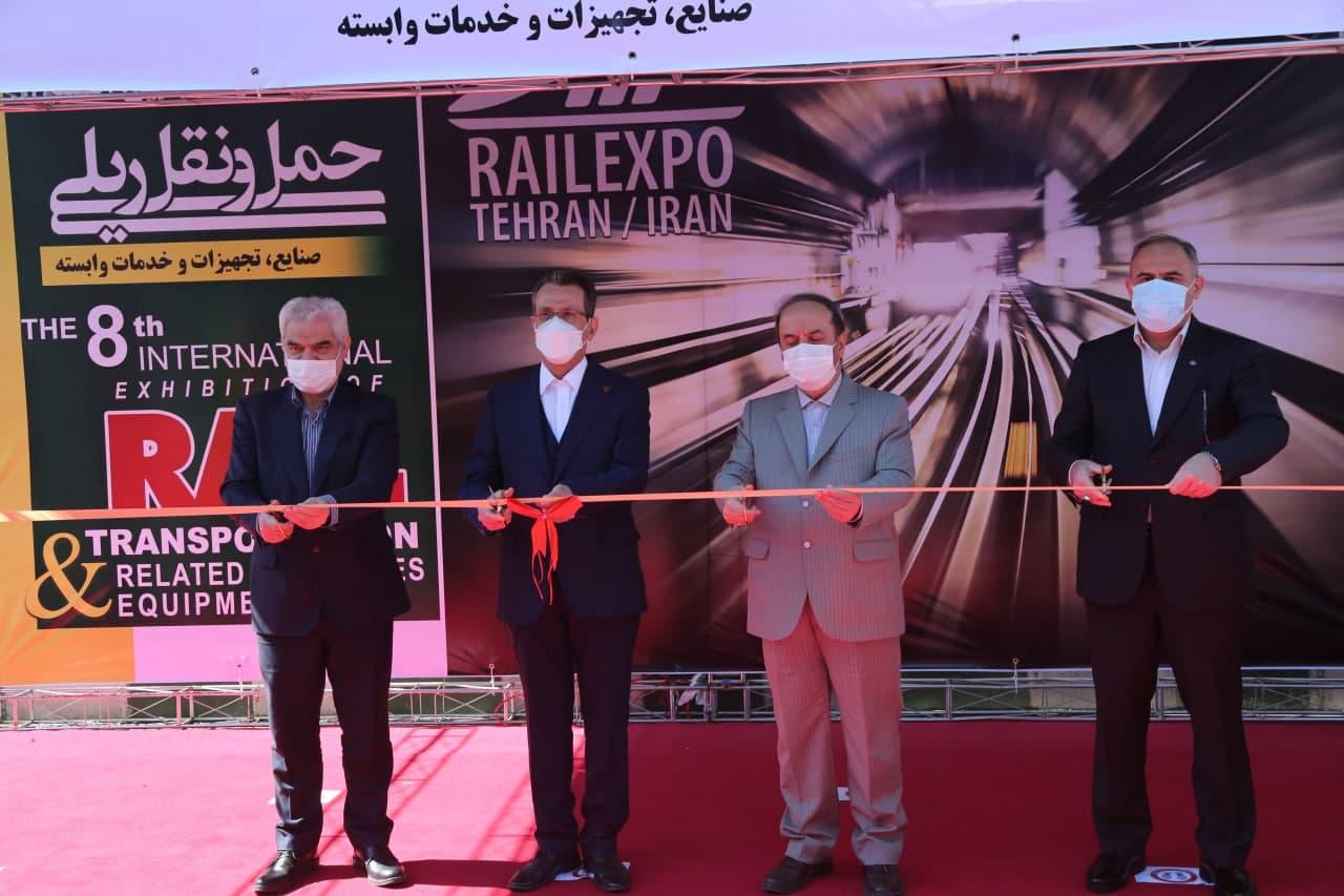 افتتاح هشتمین نمایشگاه بین المللی حمل و نقل ریلی با حضور معاون وزیر و رئیس هیات عامل ایدرو