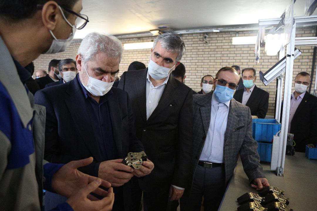 افتتاح خط تولید قطعات خودروهای سایپا با حضور معاون وزیر صمت و رئیس هیات عامل ایدرو
