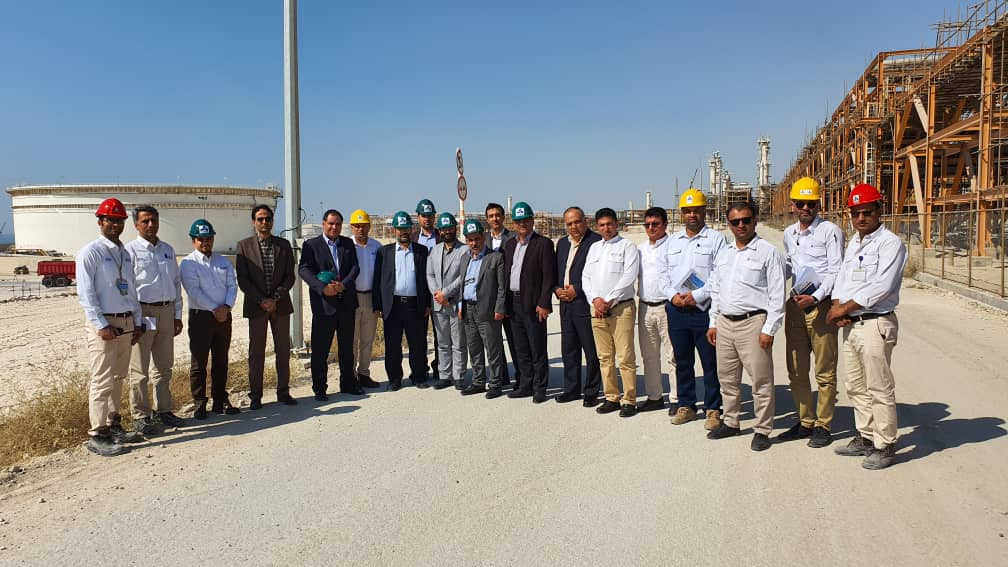 بازدید رئیس هیئت عامل ایدرو از فاز ۱۴ گازی پارس جنوبی