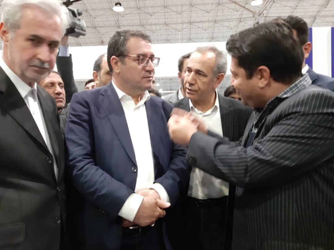 بازدید وزیر صنعت معدن و تجارت از غرفه ایدرو  در رینوتکس ۲۰۱۹