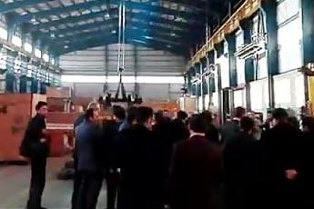 بازدید دکترمعظمی رئیس هیات عامل سازمان گسترش و نوسازی صنایع ایران ( ایدرو ) از شرکت ایریکو