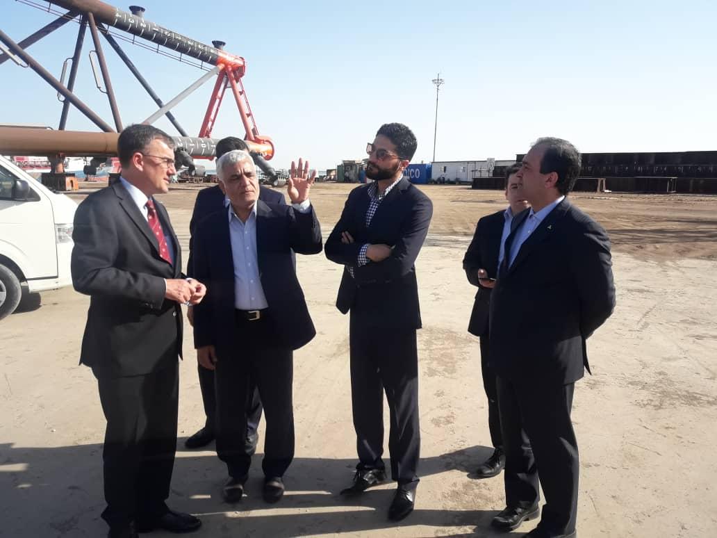 بازدید سفیر استرالیا از مجتمع کشتیسازی و صنایع فراساحل ایران (ایزوایکو)