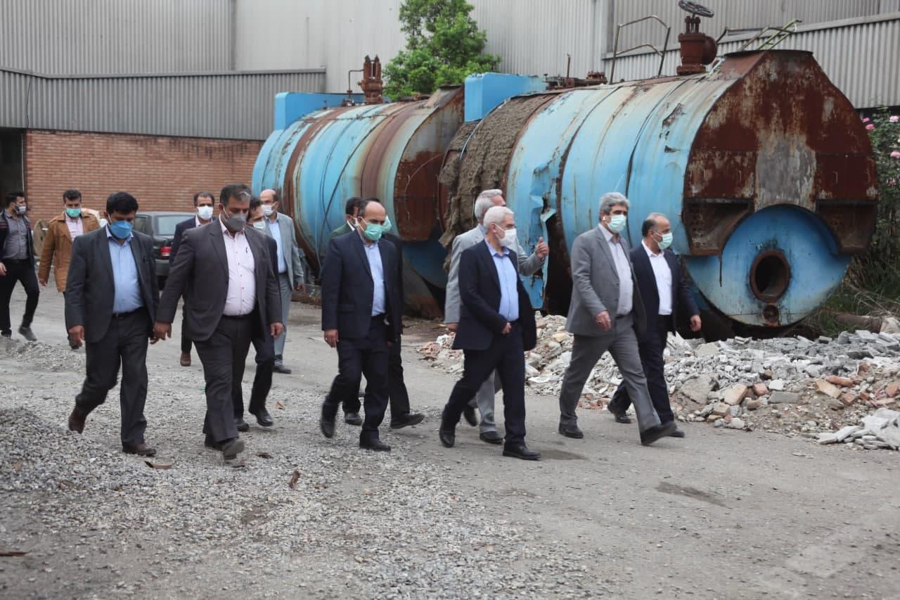 پایگاه خبری آرمان اقتصادی photo_۲۰۲۱-۰۵-۰۳_۱۴-۱۷-۵۳ بازدید رئیس هیات عامل ایدرو از واحد های نساجی استان مازندران